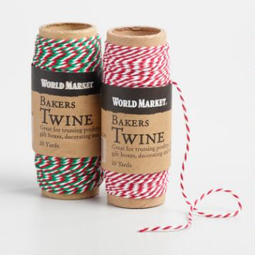 Red and Green Baker's Twine Set of 2