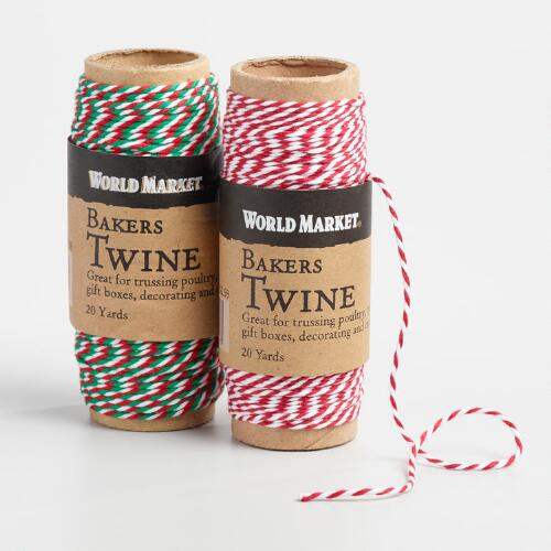 Red and Green Baker's Twine