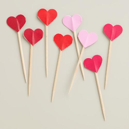 Heart Cupcake Picks, Set of 24