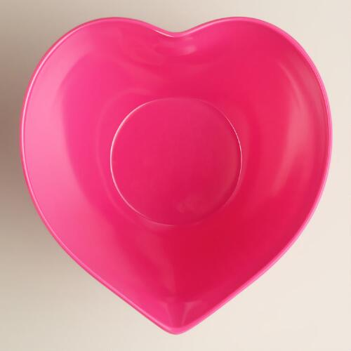 Medium Fuchsia Heart Bowl