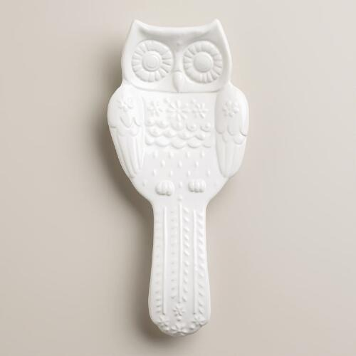 Snowy Owl Spoon Rest