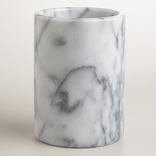 White Marble Utensil Crock