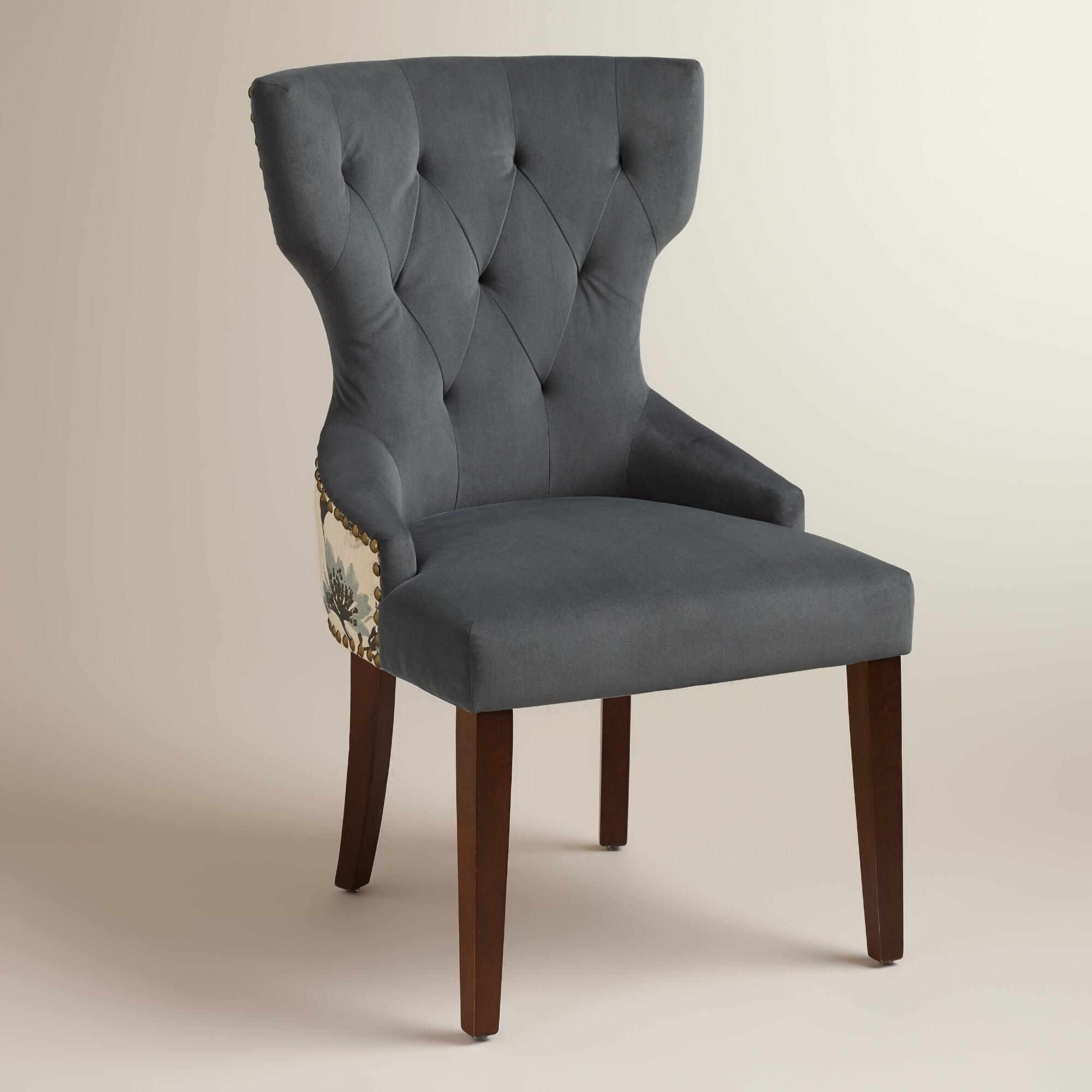 World Market Chair: Atlantic Floral And Bird Maxine Dining Chair