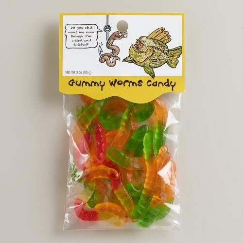 Heritage Gummy Worms Candy, Set of 12