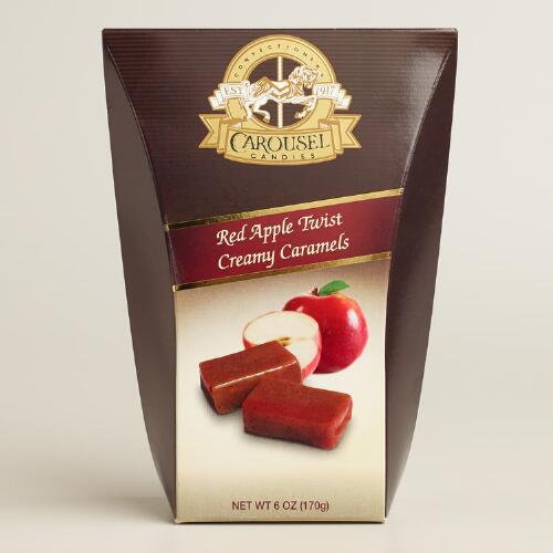 Carousel Candies Red Apple Twist Creamy Caramels