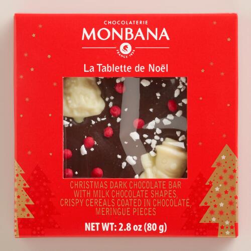 Monbana Christmas Milk Chocolate Bar