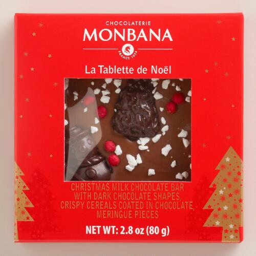 Monbana Christmas Dark Chocolate Bar