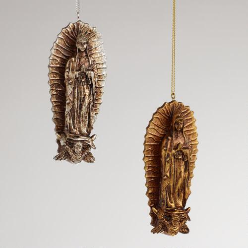 Virgin of Guadalupe Ornaments, Set of 2
