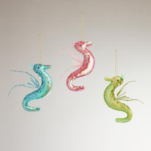 Seahorse Ornaments, Set of 3