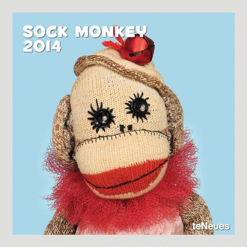 Sock Monkey 12-Month  Wall Calendar