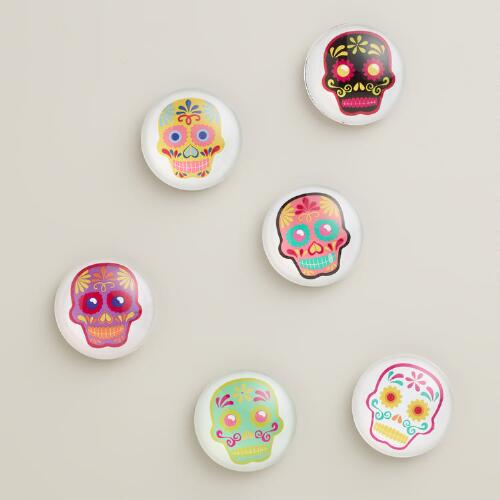 Dia de los Muertos Magnets, Set of 6