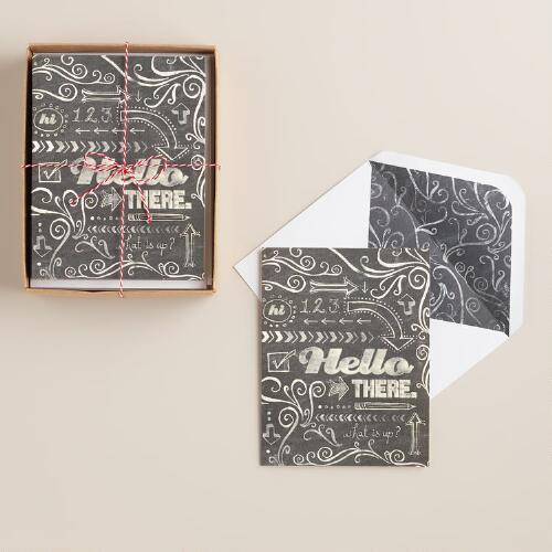 """Hello There"" Notecards, Set of 8"