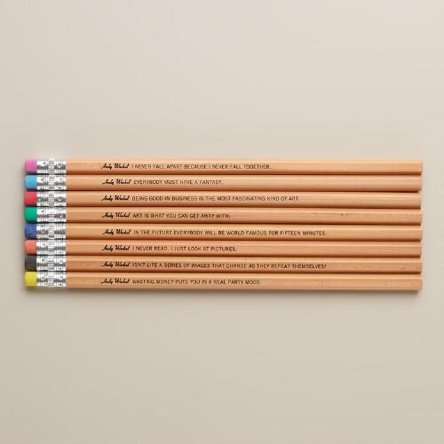 Andy Warhol Philosophy Pencils, Set of 8
