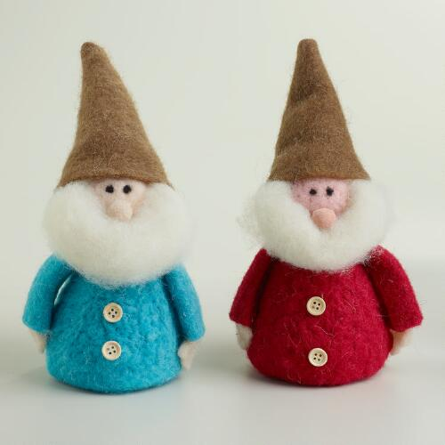 Small Felt Gnomes, Set of 2