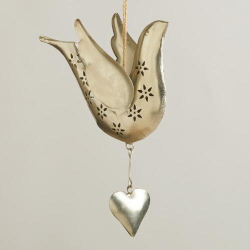 Metal Dove and Heart