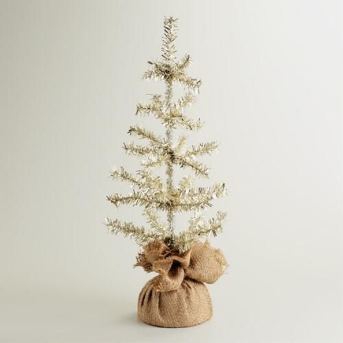 Burlap Tinsel Tree