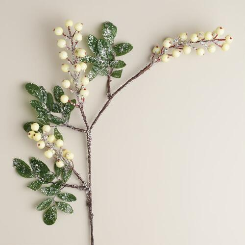 Ivory Frosted Berry Stem
