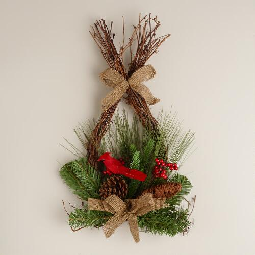 Teardrop Cardinal Wreath