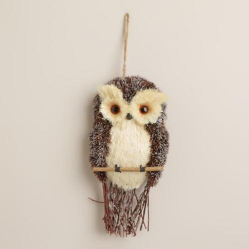 Natural Yuletide Owl