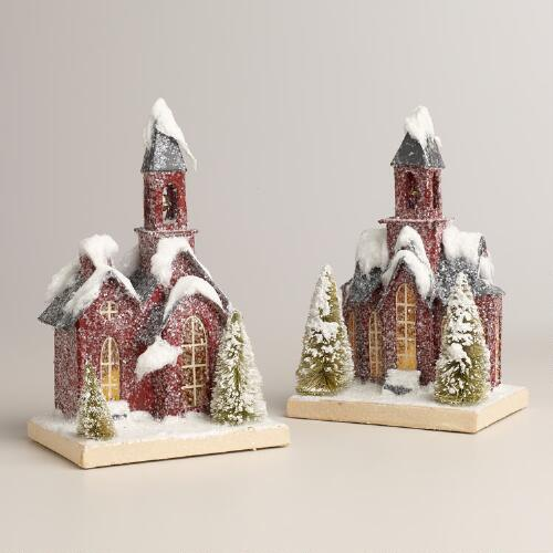 Red Paper Churches, Set of 2