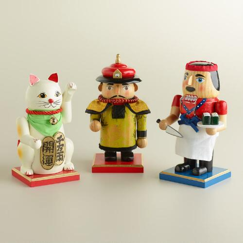 Asian Culture Chubby Nutcrackers, Set of 3
