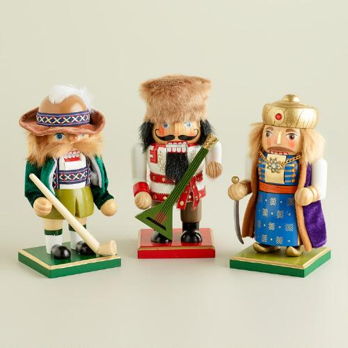 Russian, Swiss and Turkish Chubby Nutcrackers, Set of 3