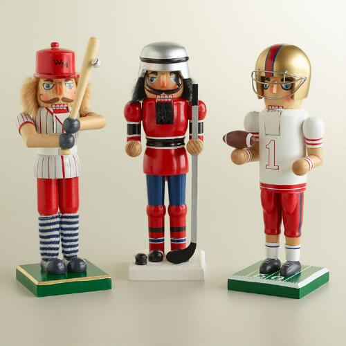 Retro-Style Sport Nutcrackers, Set of 3