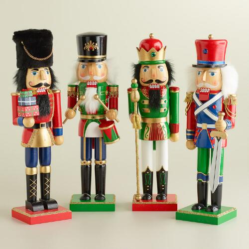 Traditional Nutcrackers, Set of 4