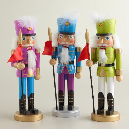 Bright Traditional Nutcrackers, Set of 3