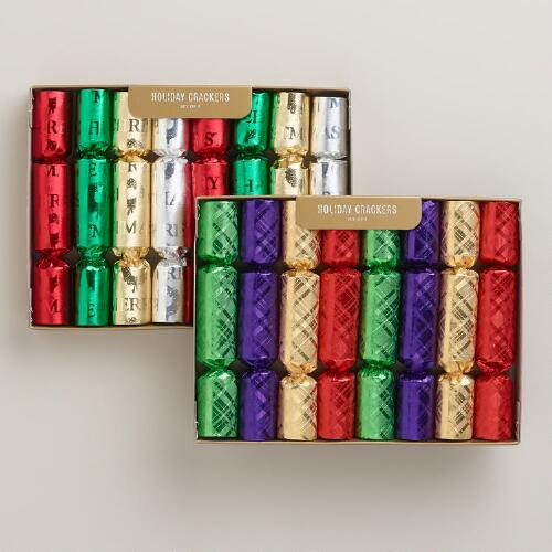 Mini Multicolor Foil Crackers, Set of 2