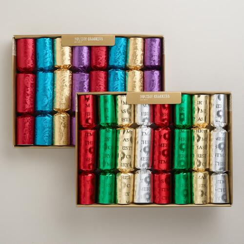Medium Multicolor Foil Crackers, Set of 2