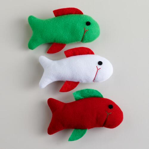 Fish with Catnip Toys, Set of 3