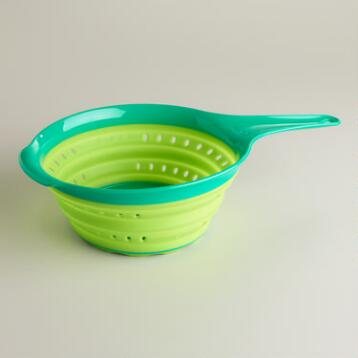 2-Quart Green Collapsible Colander