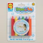 Draw-in-Tub Crayons, 6-Count