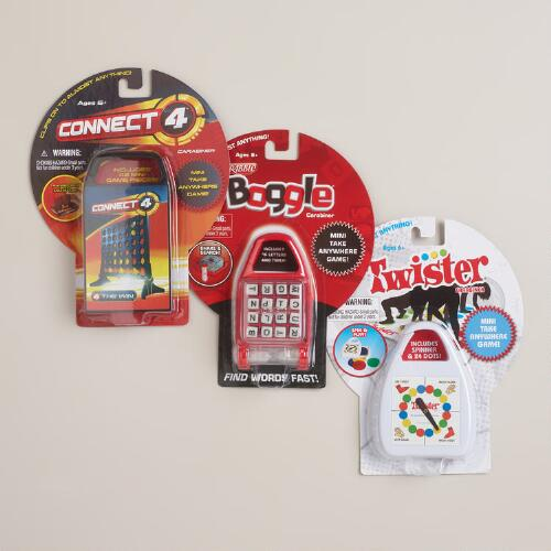 Connect 4, Twister and Boggle Carabiner Keychain, Set of 3