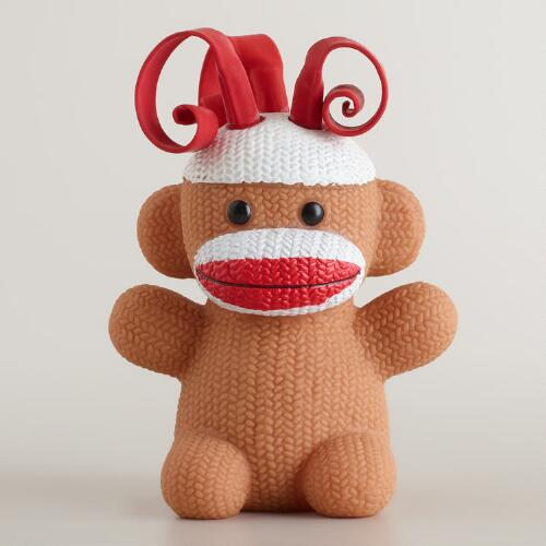Schylling Curly Pop Sock Monkey Toy