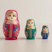 Russian Nesting Dolls, Set of 3