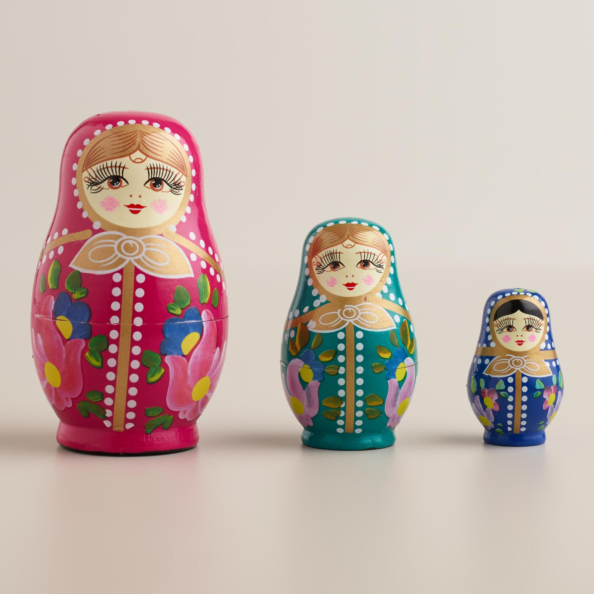russian nesting dolls set of 3 world market