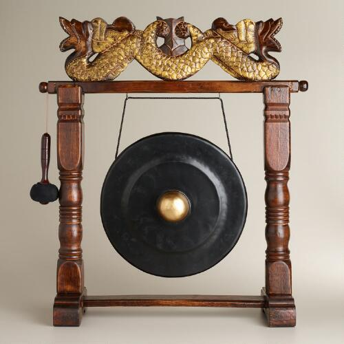 Large Wooden Indonesian Gong