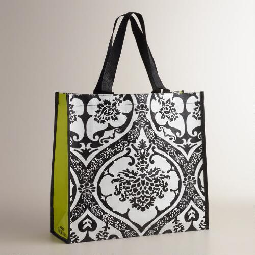 Black and Yellow Baroque Tote