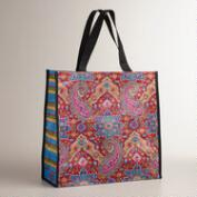Paisley Striped Phoebe Tote