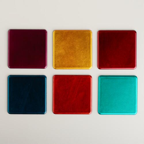 Metallic Coasters, Set of 6