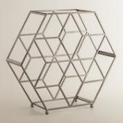 Black Chrome Contemporary Wine Rack