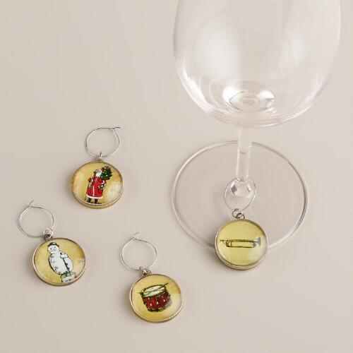 Victorian Icon Wine Charms, Set of 4