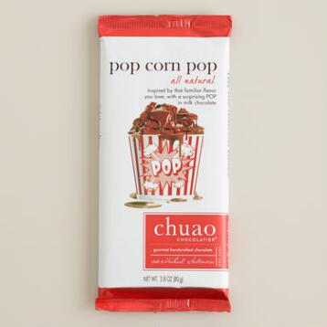Chuao Milk Chocolate Popcorn Pop Bar, Set of 2