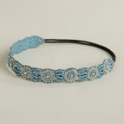Blue Rhinestone Circles Headband