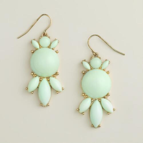 Mint Bauble Drop Earrings