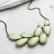 Mint Bead Bib Statement Necklace