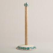 Floral Ceramic Paper Towel Holder
