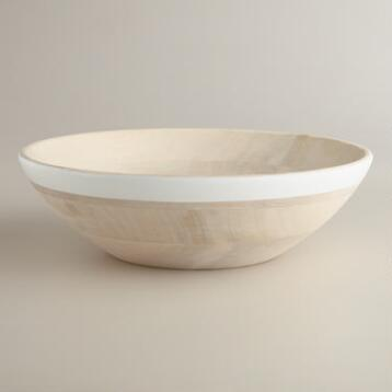 White Dipped Salad Bowl